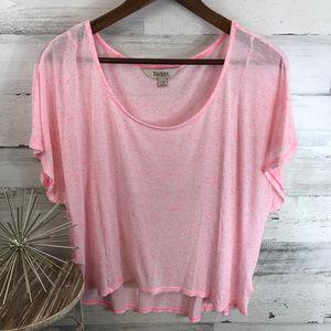 🔥4/20🔥Decree Pink Semi Shear Top [547b9]